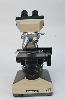 Olympus Cht Ch-2 Binocular Laboratory Microscope 4x 10x 40x 100x Ch-bi45-2