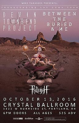 DEVIN TOWNSEND PROJECT/BETWEEN THE BURIED & ME 2016 PORTLAND CONCERT TOUR POSTER