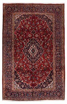 Kashan Roten Teppich (Kashan 323 x 205 cm in klassish rot Handgeknüpfter Orient Teppich Perser )