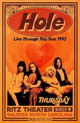 Hole 1995 Concert Poster (1995 Concert Poster)