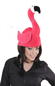 Ladies Pink Flamingo Hat Party Silly Fancy Dress Costume Headwear Pride NEW 3b8c3a40c73