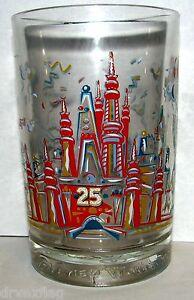 ONE Walt Disney World Magic Kingdom 25th Anniversary Glass Mcdonald's MINT