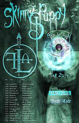"SKINNY PUPPY ""EYE VS SPY TOUR 2014"" NORTH AMERICAN CONCERT POSTER - Industrial"