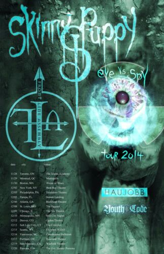 """SKINNY PUPPY """"EYE VS SPY TOUR 2014"""" NORTH AMERICAN CONCERT POSTER - Industrial"""