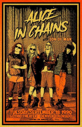 Alice In Chains 1990 Concert Poster
