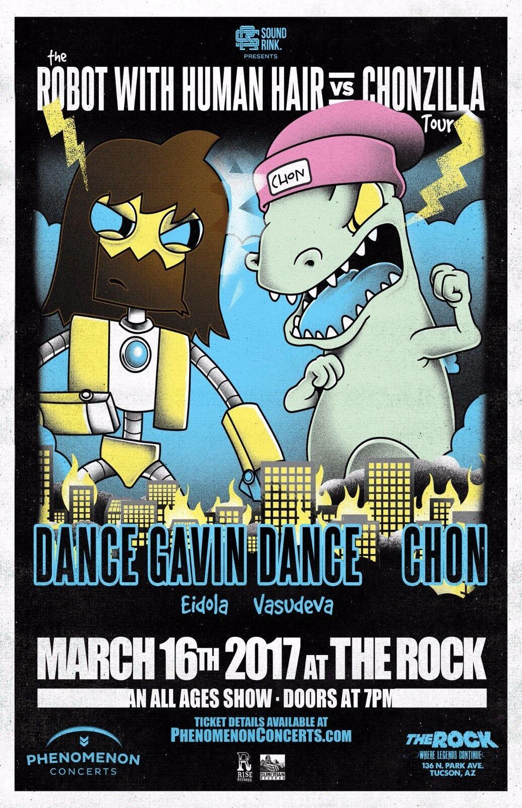 DANCE GAVIN DANCE / CHON ROBOT WITH HUMAN HAIR TOUR 2017 TUCSON CONCERT POSTER - $11.99