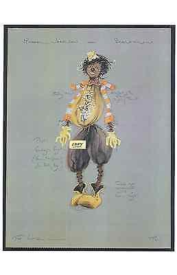 THE WIZ COSTUME SKETCH POSTER- MICHAEL JACKSON (SCARECROW) -UNIQUE- ONLY  $6.99 (The Wiz Scarecrow Costume)