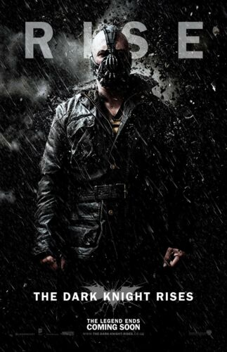 """The Dark Knight Rises movie poster  : 11"""" x 17"""" Bane poster"""