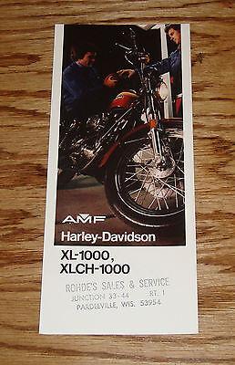 Original 1974 Harley-Davidson XL-1000 XLCH-1000 Motorcycle Sales Brochure AMF