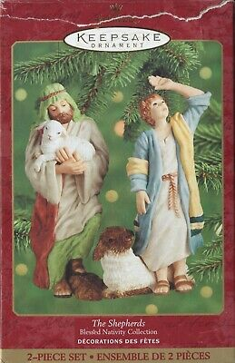 HALLMARK The Shepherds Blessed Nativity Collection 2-piece Porcelain Set 2000