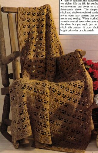 HANDSOME Cluster Afghan/Crochet Pattern INSTRUCTIONS ONLY