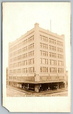 Muscatine Iowa~McColm & Company Dry Goods Department Store~1920s RPPC