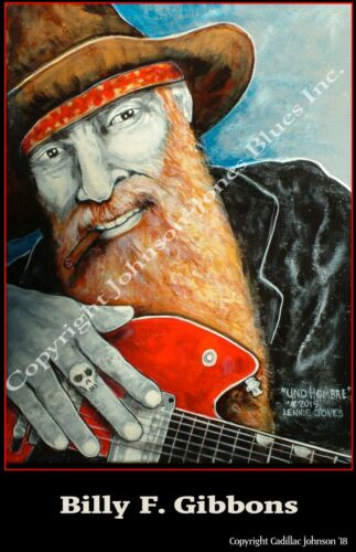 Billy F. Gibbons Poster by Cadillac Johnson
