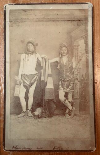 "Photo Native American Indian "" White Horse "" Western lg Boudoir  Albuman 1880s"