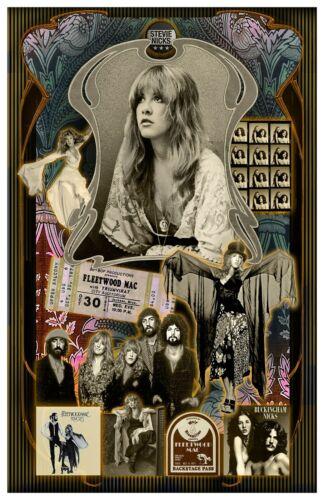 "Stevie Nicks Fan Tribute poster - 11x17"" - Vivid Colors!"