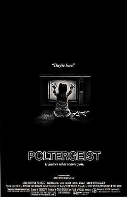 "Poltergeist movie poster print  - 11"" x 17"" inches - Tobe Hooper"