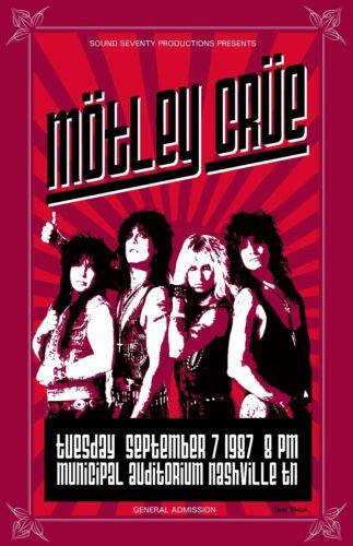 Motley Crue 1987 Tour Poster