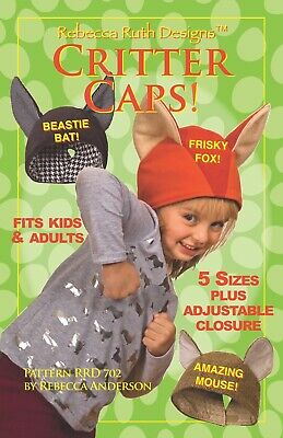 Critter Caps! Kids' Costume Pattern
