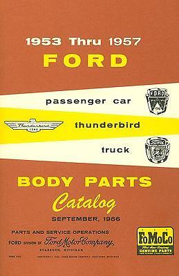 1953 54 55 56 57 Ford Car, Thunderbird, & Truck Body Parts Catalog