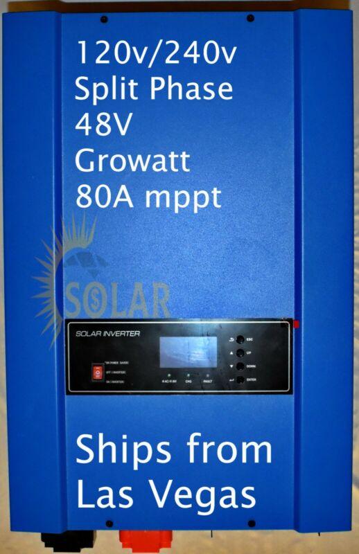 6kw 120/240v Split Phase Solar Inverter new Growatt Liquidation Blowout!