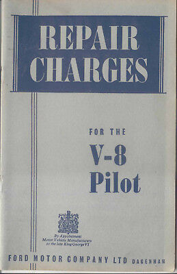 Ford V8 Pilot Repair Charges May 1955 Unillustrated