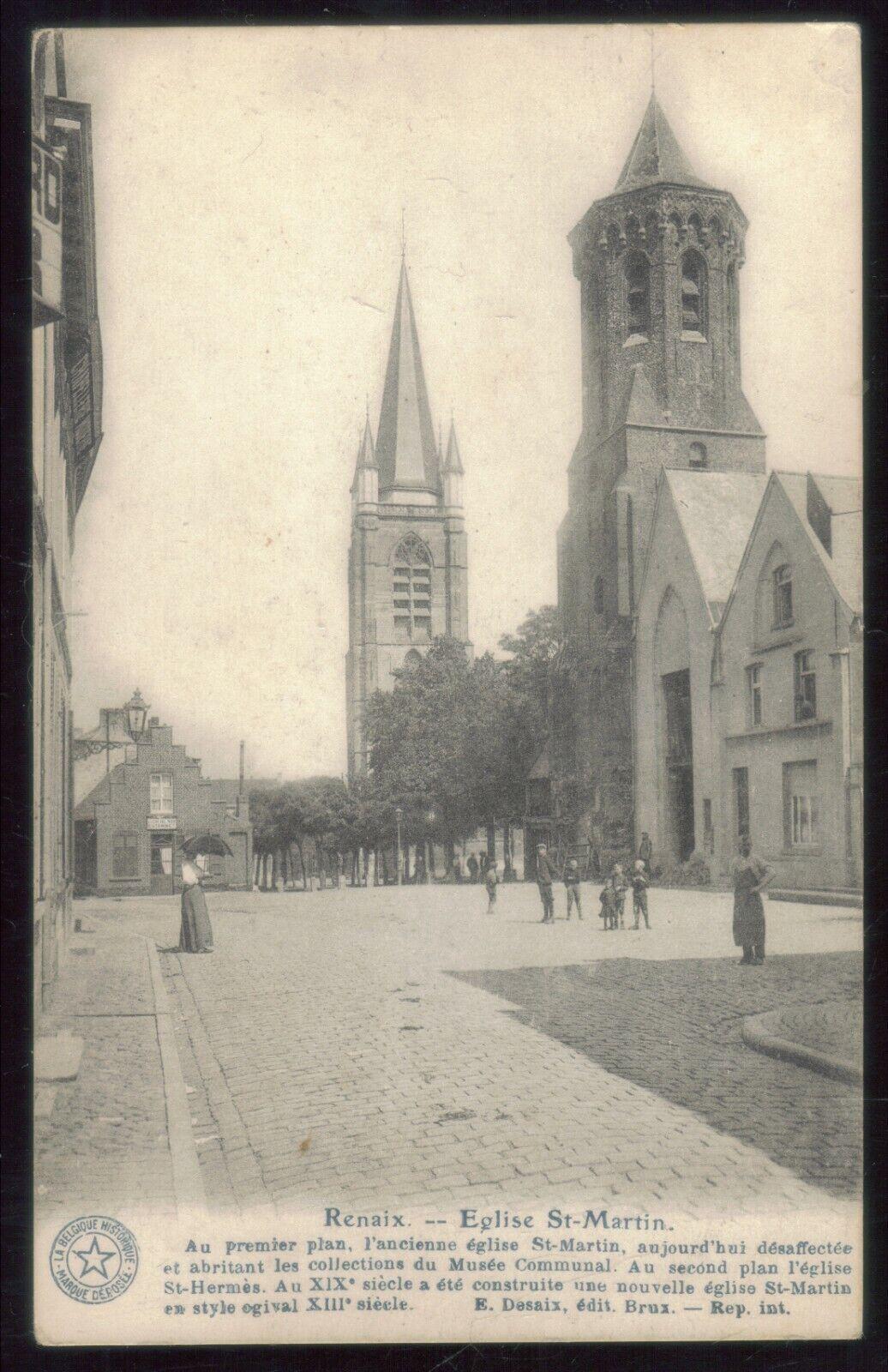oude postkaart  van Ronse --Eglise St-Martin ,,zie foto's ,O 50 ,,