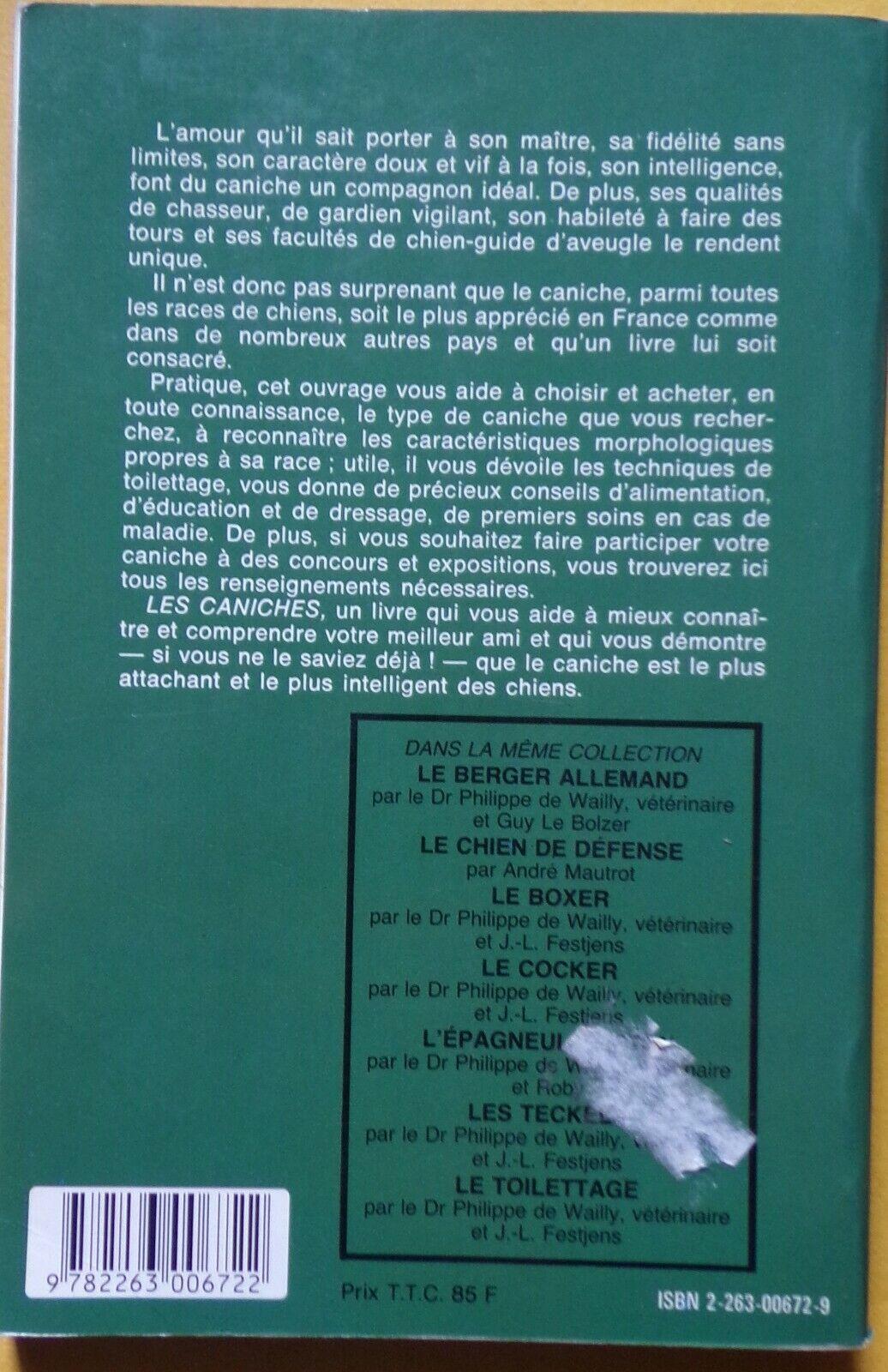 § livre les caniches - p. de wailly, j.l. festjens