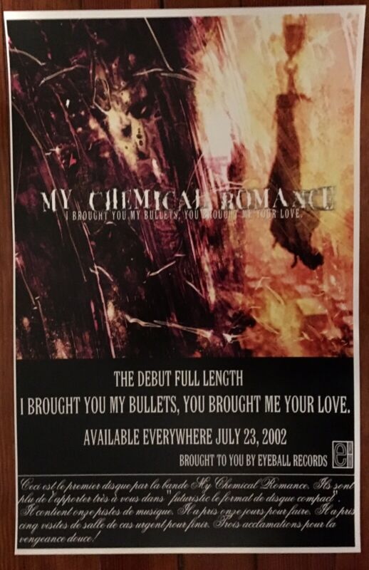 Vintage My Chemical Romance I Brought You My Bullets Release Poster E