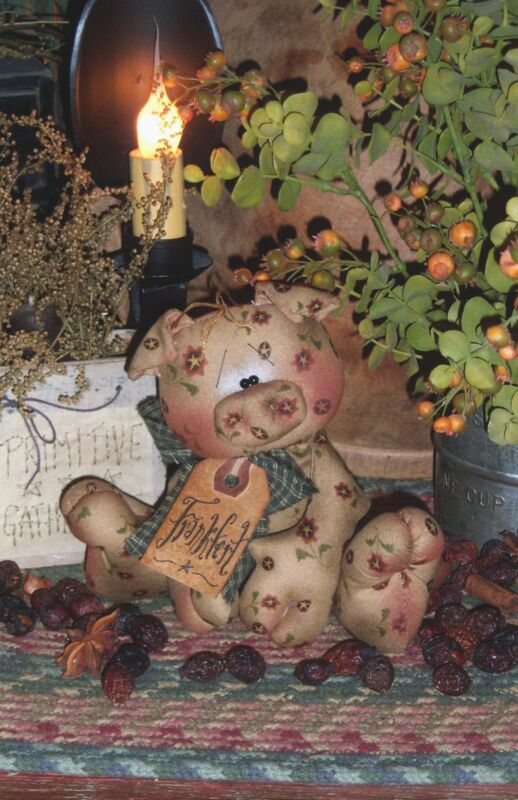 Primitive Raggedy Pig Frankfert Ornie Doll Paper Pattern #139