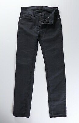 Acne Studios Mens Ace Ups Black Stretch Denim Jeans 30 x 32 $230