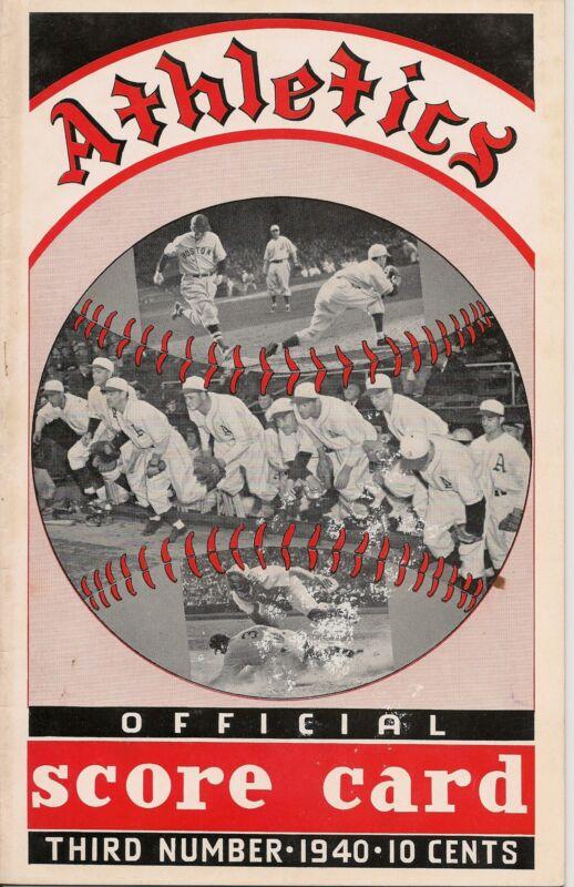 1940 Philadelphia A's-Tigers Program Tigers Top Athletics AL Champs NICE!!