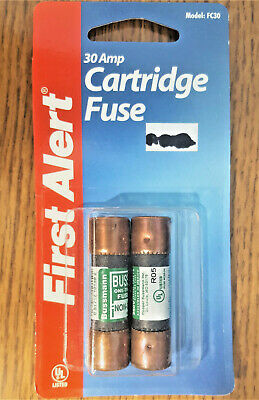 30 Amp 250v Cartridge Fuse First Alert Fc30 Class K5 New Package Set Of 2