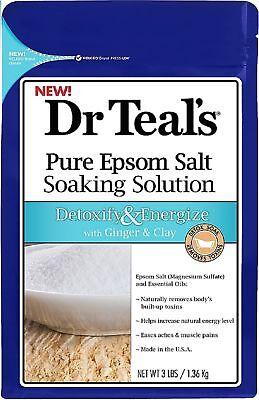 Dr Teals Pure Epsom Salt Soaking Solution  Detoxify   Energize 3 Lbs