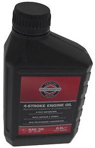 Genuine briggs stratton engine oil sae 30 600ml bottle for Hd 30 motor oil