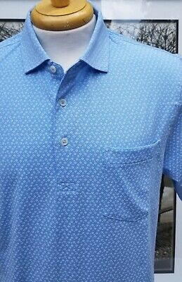 Fennec Printed Super Soft & Lightweight Cotton/Span S/S Polo NWT SALE $27.50 blu Lightweight Printed Cotton