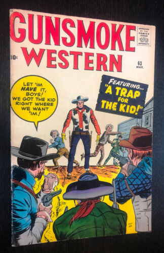 GUNSMOKE WESTERN #63 (Marvel 1961) -- F+