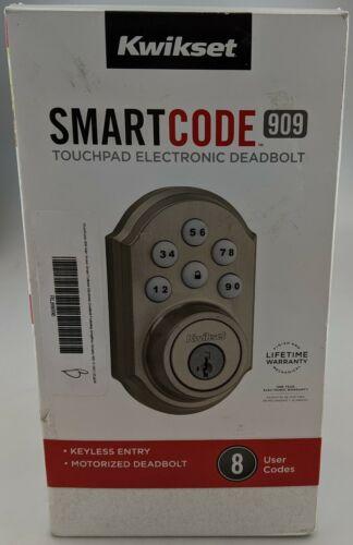 Kwikset Smart Code 909 Touchpad Electronic Deadbolt Nickel In Box Good Shape