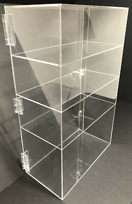 12 X 8 X 16 Acrylic Cabinet Locking Display Showcase Counter Top Display