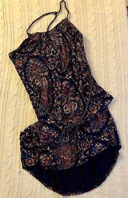 Lucky Brand Women's Paisley Knit Dress Sz L