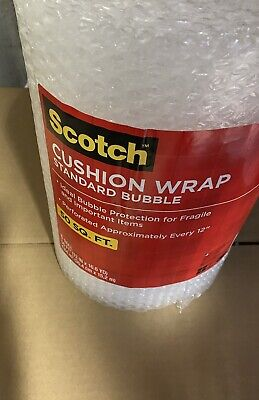 3M Scotch Bubble Wrap Rolls, 50ft x12 wide, small size