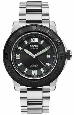 Gevril 3124B Men's Seacloud Swiss Automatic Diver Limited Edition Date Watch