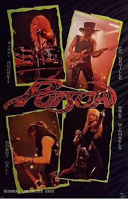 Sealed Original Vintage Poison Live Poster From 1989  Glam  Metal Bret Michaels