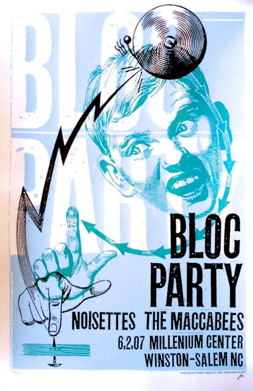 Bloc Party Concert Poster 2007