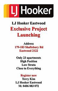 Register your interest on our new Eastwood project Eastwood Ryde Area Preview