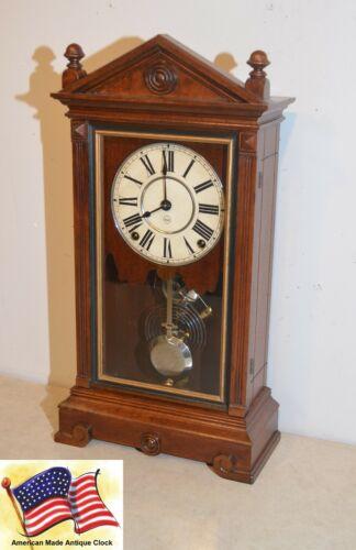 RARE AND RESTORED SETH THOMAS ALBANY - 1885 CITY SERIES ANTIQUE CABINET CLOCK