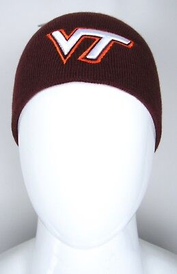 NCAA Virginia Tech VT Hokies Football Maroon 3D Logo Beanie Fall Winter Hat NWT
