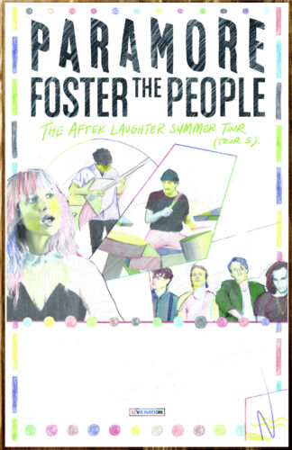 PARAMORE | FOSTER THE PEOPLE After Laughter Summer Tour 2018 Ltd Ed RARE Poster!