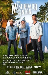 The Washboard Union Live In Kingston 11/24
