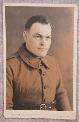 Carte photo militaire Soldat Belge prisonnier en Allemagne Stalag I/A 40-45 WW2