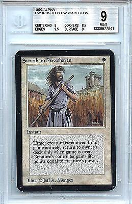 Alpha Sword -  MTG Alpha Swords to Plowshares Magic WOTC BGS 9 (9.0) Mint Card 7841